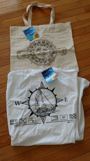 Del sol canvas bag and t-shirt set