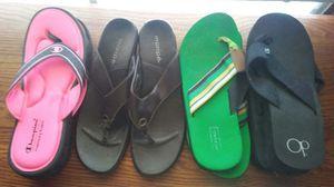 Woman's flip flops. Pink ones sold