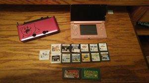 3DS with Case, Games, and Charger