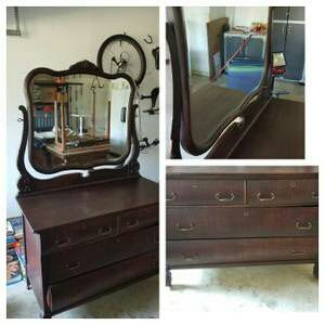 Beautiful 4 Drawer Eastlake Dresser