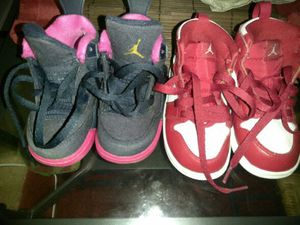 Jordan 1's and 4's size 6 kids