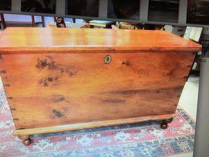 Antique pine blanket chest