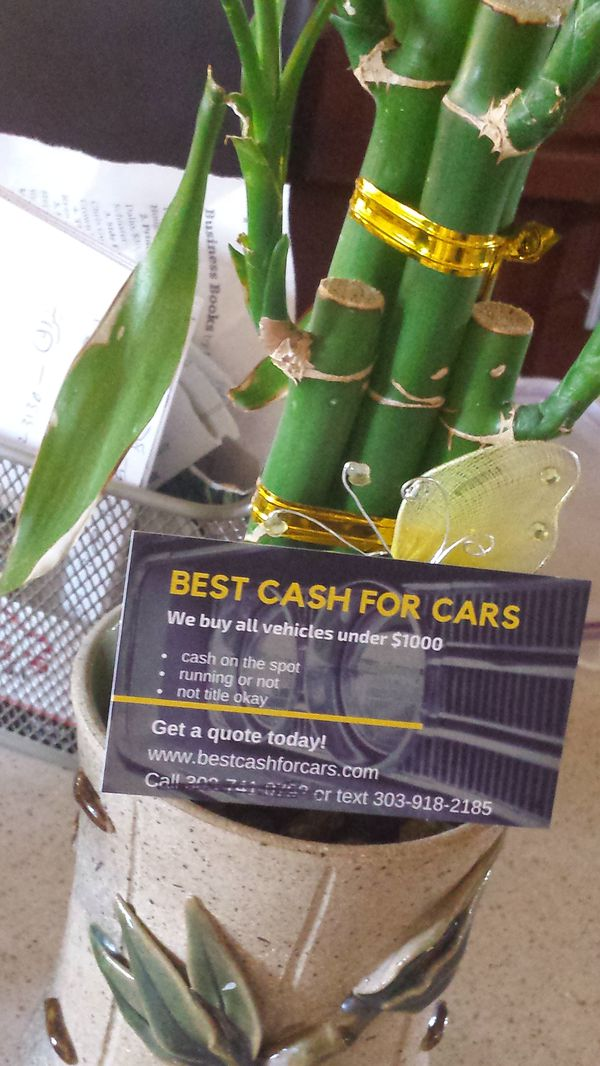 Cash for unwanted vehicles (Cars & Trucks) in Denver, CO