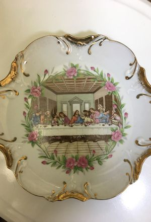 Antique Last supper plate