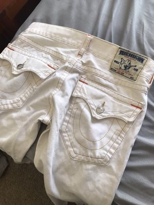 White True Religion Cut Off