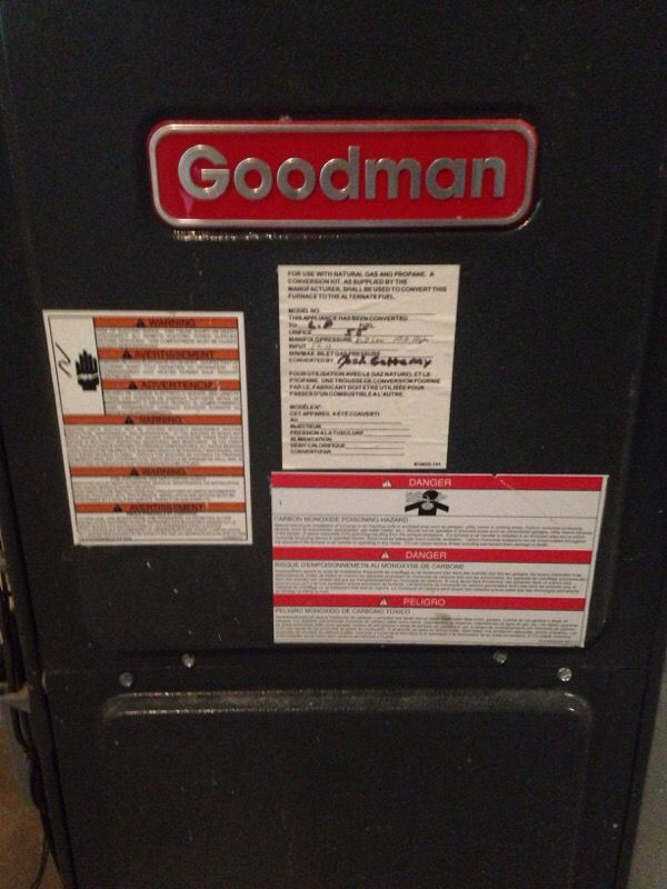 goodman propane furnace. goodman propane furnace and ac unit ducting