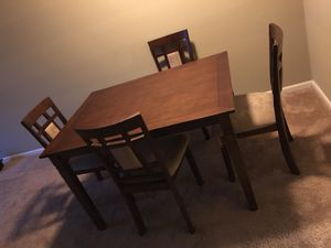 Dining Set Table And All 4 Chairs