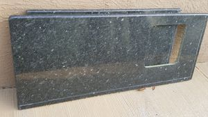 Black two slabs of granite small bar sink comes with granite no damages