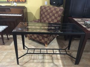 Iron Glass Side Table