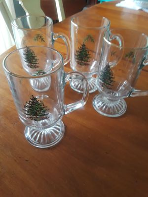 Spode Christmas glass mugs