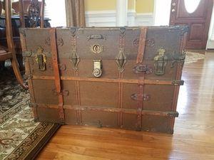Huge antique steamer trunk