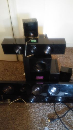 Speaker set with sub wolfers 6 in total