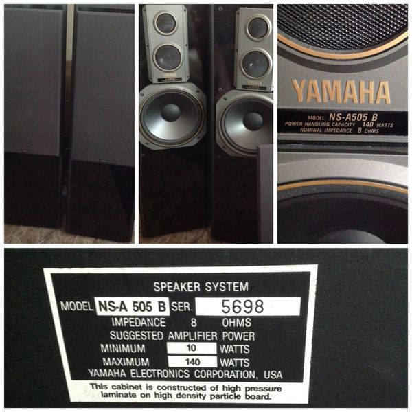 yamaha ns-a 505b tower floor standing speakers ( electronics ) in