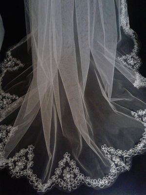 White Wedding Veil 36""