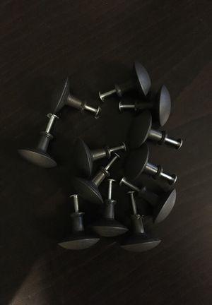 IKEA gray/black knob set (12)