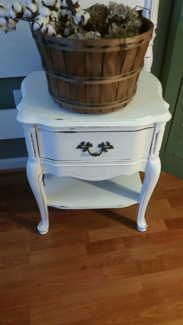 French Country Queen Headboard and Nightstand