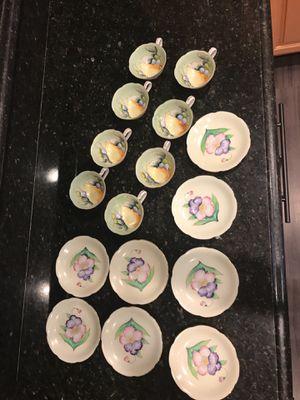 """Antique tea set porcelain brand """"celebrate"""" made in Japan"""