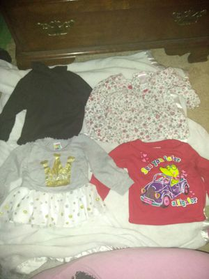 Baby girl long sleeve shirts 12-18 months
