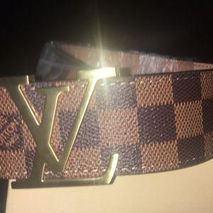 Brown Checkered LV belt