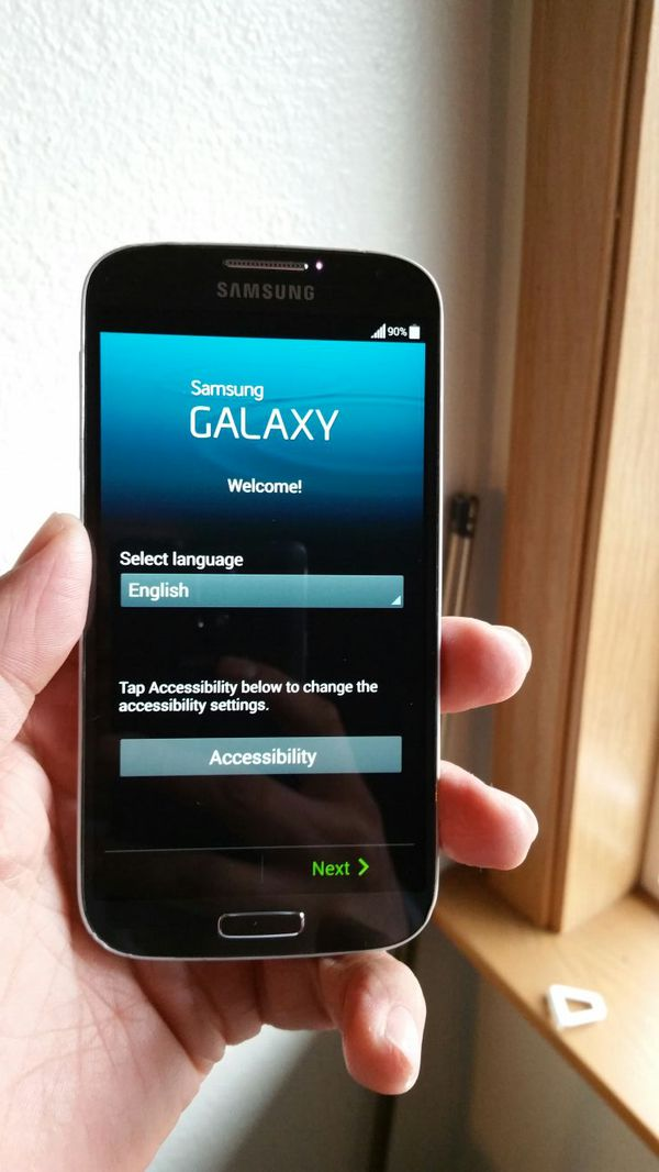 how to get blue tooth up and runningon samsung galexy