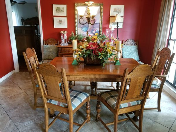 Late 19th century dining room set. China cabinet, breaking with ...