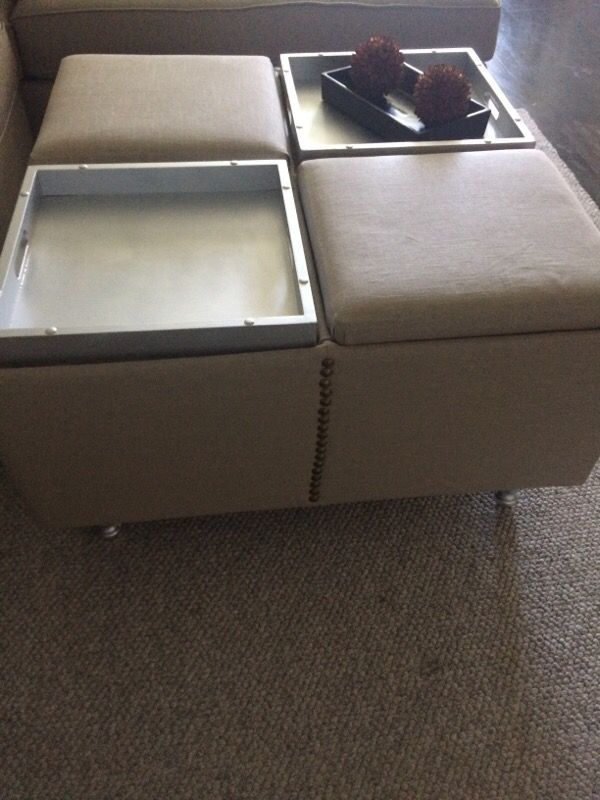 Coffee table ottoman and storage furniture in seattle for Furniture pick up seattle