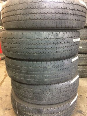 Set (4) Used Tires LT 225-75-16 Free Mount & Balance