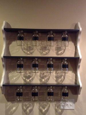 Mason jars shelf