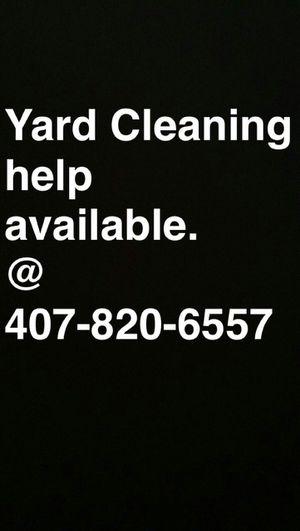Yard help available