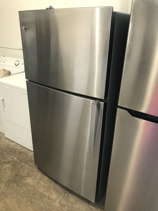 New scratch and dent stainless steel apartment size refrigerator ...