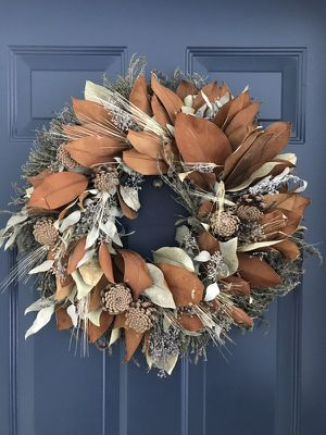 Magnolia Wheat Wreath