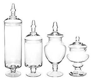 Wedding/event candy jars (Apothecary with lids and more)