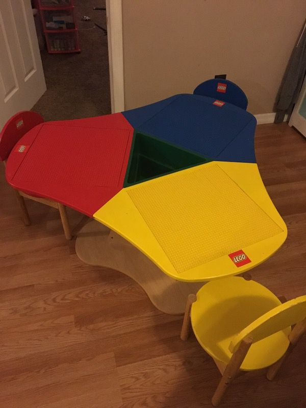 Lego Table with 3 chairs (Baby & Kids) in Cape Coral, FL