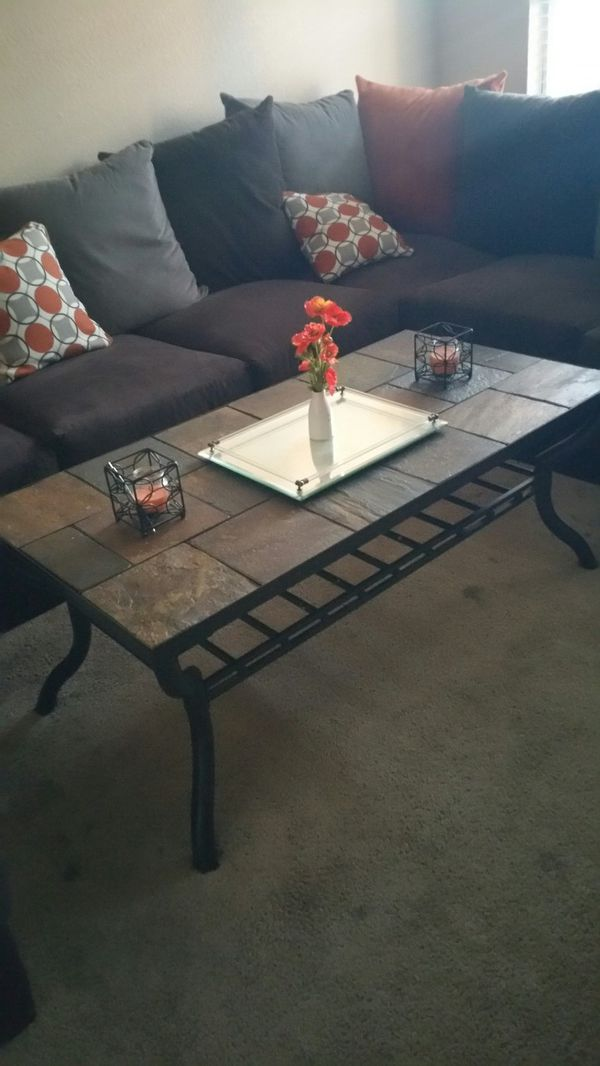Flagstone tile coffee table and end tables Furniture in Phoenix AZ