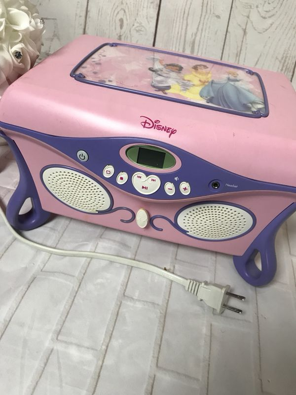 Disney Princess CD player jewelry box CDs DVDs in Lowell MA