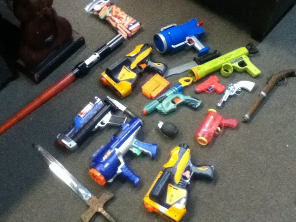 Nerf Guns & Misc Toy Guns/Swords