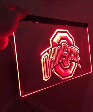 OHIO STATE BUCKEYES LOGO LED LIGHT SIGN