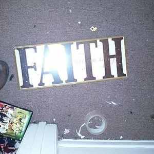 Faith wall hanger