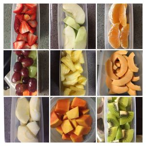 Fresh cleaned n cut fruits