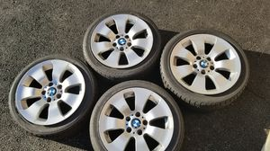 "Original BMW 328i wheels 17"" OEM alloy."