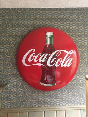 HUGE 3 ft Coca Cola Wall Road Sign