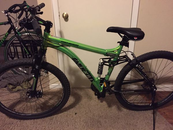 27 5 Men Genesis Mountain Overkill Bike Green Bicycles