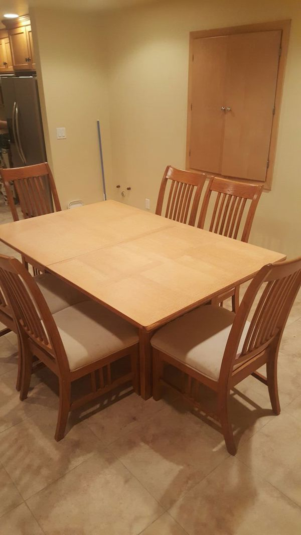 mission style dining room table w 6 chairs furniture in snohomish