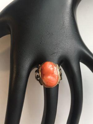 10k cameo ring