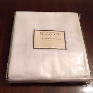 Williams Sonoma White Tablecloth