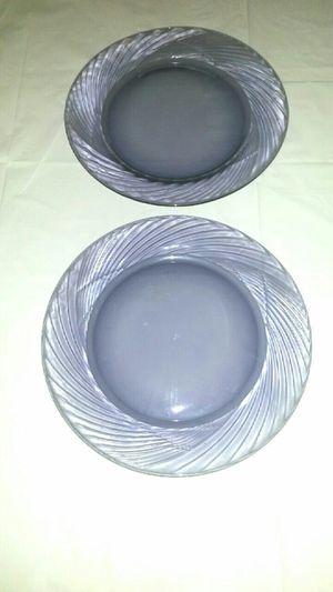 "Festiva Amethyst Pyrex Serving/Charger 12"" Plates"