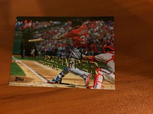 2015 Washington Nationals Bryce Harper baseball card