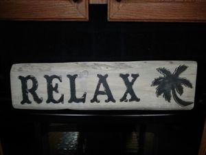 Palm tree rustic sign