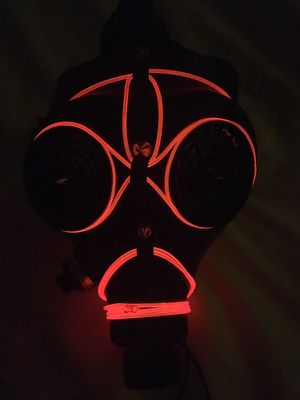 Halloween Steampunk Rave Gas Mask Hat Goggles