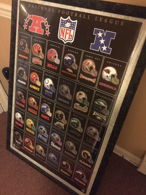 Vintage Football poster of the 30 NFL teams